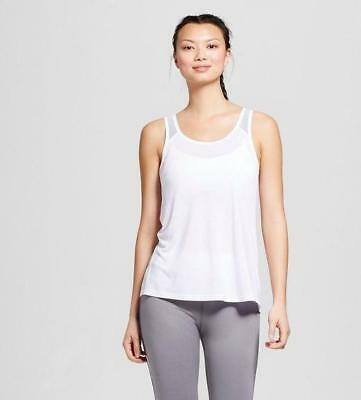 fe9b819b7ab44 C9 CHAMPION WOMEN S Size Large Loose Fit White Tank Top Exercise ...