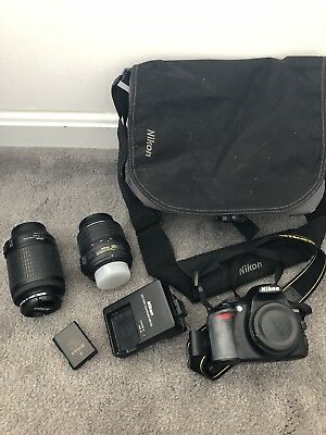 Nikon D D3100 14.2MP Digital SLR Camera - Black (Kit w/ AF-S G DX VR 18-55mm...