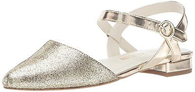 a56df02a1844ef Anne Klein Womens Odell Pointed Toe Ankle Strap Ballet Flats