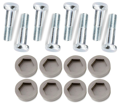 "Leveling Foot Feet Wire Rack Shelf Glide Threaded 1"" Post Stem 1 1/2"" L 8 PACK"