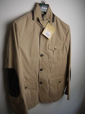 Barbour Men's Summer Lutz Jacket, New With Tags, Stone/Beige, Large