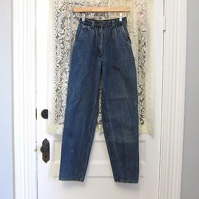 Vintage Jeans Young Junior Teen Youth 24 In Waist High Waist Taper Leg 80s