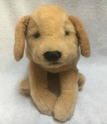 """Folkmanis Puppets Yellow Labrador Puppy Dog Plush Toy Hand Puppet 16"""" Inches"""