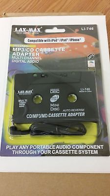 New CAR CASSETTE TAPE ADAPTER MP3 CD PLAYER iPHONE 3.5mm CONNECTOR