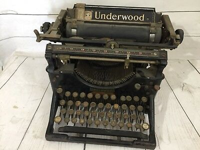 Underwood Typewriter No 5 black  1912 antique - AS IS Reduced Price!!