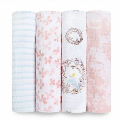 aden + anais 4 PACK CLASSIC SWADDLE Gift boxed - Birdsong FREE SHIPPING