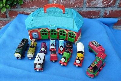 Vintage Thomas Train Lot Roundhouse Carry Case, Engines, Learning Curve
