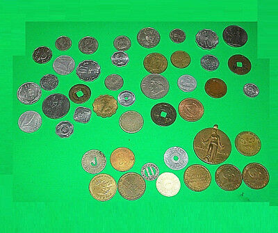 ## Huge Lot Of 40+ Vintage Token + World Coin Lot 1920's & Up St. Louis Mo