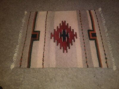 Navajo Native American Hand Stiched Rug Preowned Good Condition Southwestern