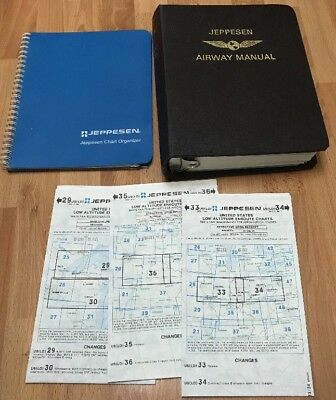 Jeppesen Airway Manual Chart Organizer Maps Great Lakes Illinois Wisconsin