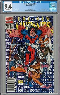 New Mutants #100 CGC 9.4 NM 1st Appearance of X-Force Last Issue WHITE PAGES
