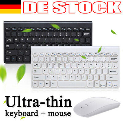 Für PC Computer Kabellos Funk USB Wireless Keyboard Tastatur und Maus Bluetooth