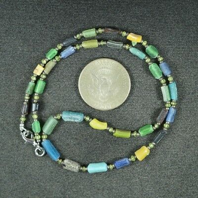 Ancient Roman Glass Beads 1 Medium Strand 100 -200 Bc 0972
