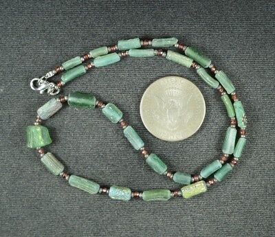 Ancient Roman Glass Beads 1 Medium Strand 100 -200 Bc 0973
