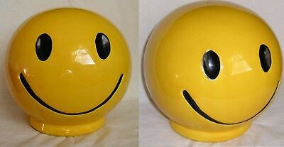 Vintage 70's Yellow Smiley Face Bank McCOY USA Ceramic Happy FacE Mc coy Old