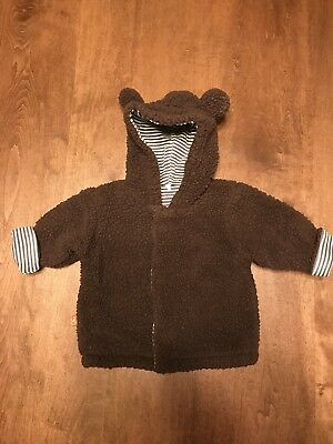 Magnificent Baby Unisex Magnetic Smart Little Bear Hooded Jacket Size NB-6M