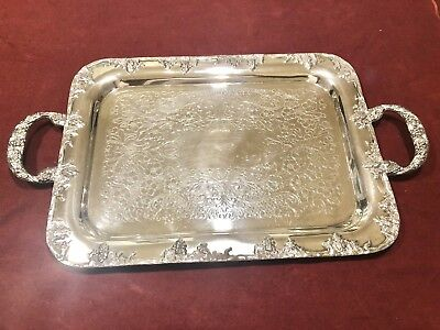 (1618g) Fabulous Academy Vintage Silver Serving Tray - Exceptional