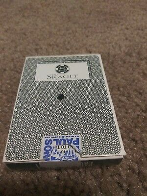 The Skagit Valley Casino Resort Game Used Deck Of Playing Cards Green