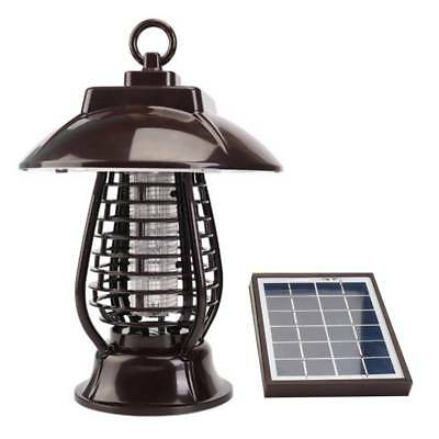 Solar Powered LED Light Repeller Pest Zapper Insect Mosquito Killer Outdoor Lamp