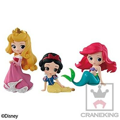Q posket Disney Characters petit vol.4 Ariel & Snow white & Aurora Set Japan New