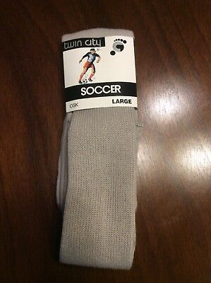 "Adult Lage Gray Tube Socks 27"" Acrylic Orlon Size 8.5-12.5"