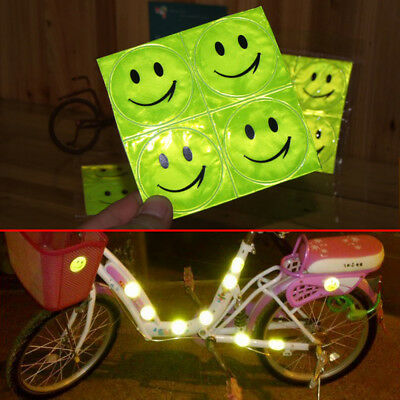 1x Reflective Sticker Safety Mark Decal Smile Face For Bicycle Baby Motorcycle