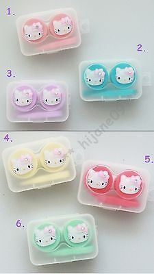 Hello Cat Contact Lens Travel Kit Case Pocket Size Storage Holder Container