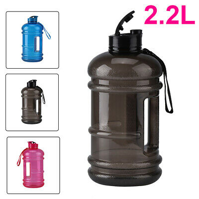 New 2.2L Big Large BPA Free Sport Gym Training Drink Water Bottle Kettle Camping