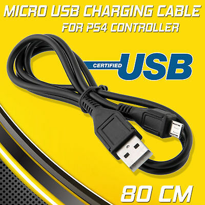 USB MICRO Charging Data Cable lead For PS4 Playstation 4 Controller Pad Charger