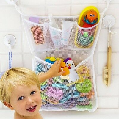 BATH TUB ORGANIZER Bag Holder Storage Basket Kids Baby Shower Toys ...