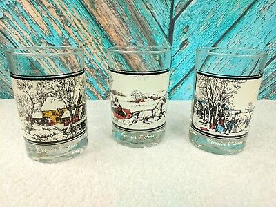 Vintage (#1 of 4) (#2 of 4) (#4 of 4) 1978 *3 Arbys Christmas Glass Collectibles