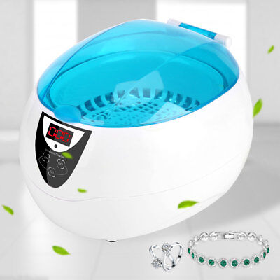 750ml Ultrasonic Jewelry Cleaner Denture Glasses Coins Silver Cleaning Machine