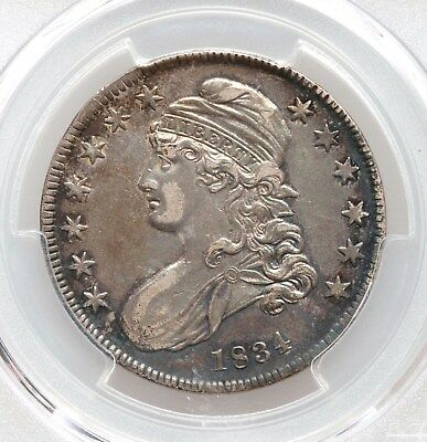 1834 Capped Bust PCGS XF45 Silver Half Dollar Nice Type Coin Overton Sml Date