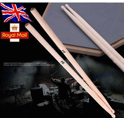 "16"" 5A Drum Sticks High Quality Maple Wood Band Drumsticks Premium Percussion UK"