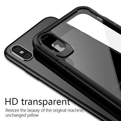For iPhone XS Max/XS/XR Shockproof TPU Bumper Hybrid Clear Hard Back Case Cover