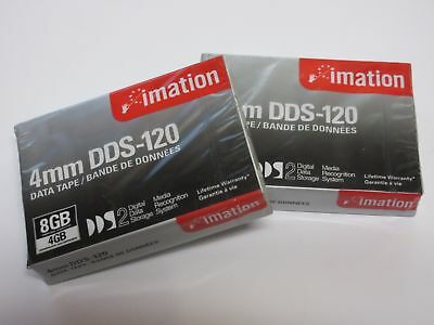 LOT OF 2 Imation 4mm DDS-120 8GB DDS2 Data Cartridge DDS-2 Tape NEW/SEALED