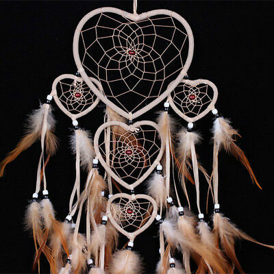Handmade Dream Catcher Feathers Craft Car Wall Decoration Ornament Hanging Bead