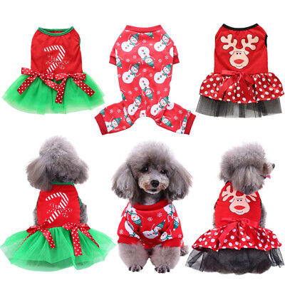 Christmas Pet Dog Clothes Costume Cute Clothes For Small Dog Cloth Costume Dress