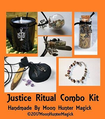Justice Spell Combo Kit #1 Court Case Spell Kit Ritual Pagan Wicca