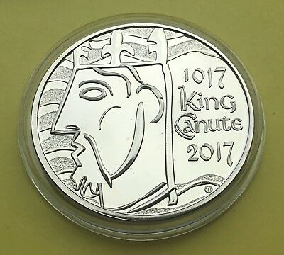 2017 brilliant uncirculated King Canute £5 coin/encapsulated.