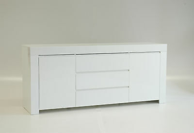 Amalfi 7 Modern White Dresser Sideboard Cabinet Chest Of Drawers