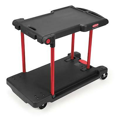 Rubbermaid Heavy Duty Janitorial Convertible Utility Cart Trolley FG 4300 00 New