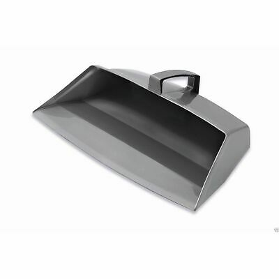 Addis Plastic Metallic Silver Grey Hooded Cleaning Dustpan Dust Pan 30cm