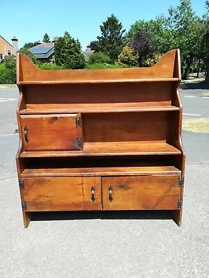 Antique pine unusual old bookcase