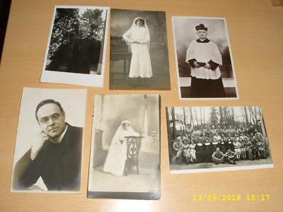 Vicars  Clergymen, Confirmation, Nuns   Vintage Collection Old  Photo Postcards