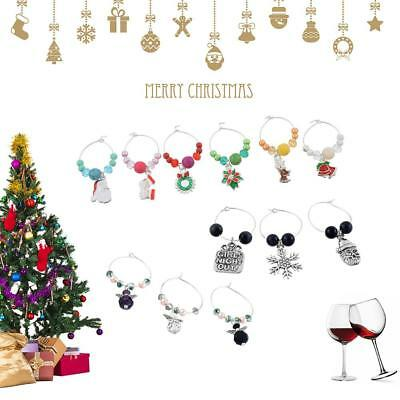 Wine Glass Charms Christmas Party Champagne Dining Bar Marker Table Supply Decor