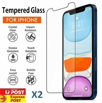 iPhone XS Max XR - 2X Tempered Glass Screen Protector Apple