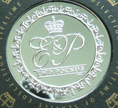 British Indian Ocean Territory Silver Proof 2 Pounds 2011 Unc In Capsule + Coa