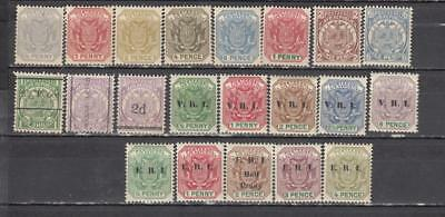 Transvaal ( South Africa ) 1885/95 1/2d To 6d With 3 Overprints 12 Stamps + E.R.