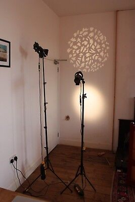 Dedolight Lighting Kit. with DP1 Imager Projector, 3 lights, stands and extras